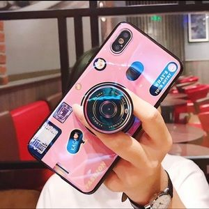 3D Camera iPhone X/XS Case with PopSocket